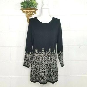 NWT Ottoman Imports Knit Long Sleeve Dress OSFA
